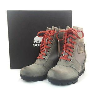 Sorel Lexie Wedge Women's Sz 5.5 Boots Leather